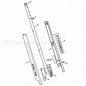 Stihl Fse 41 Electric Trimmer  Fse 41  Parts Diagram  Drive Tube Assembly