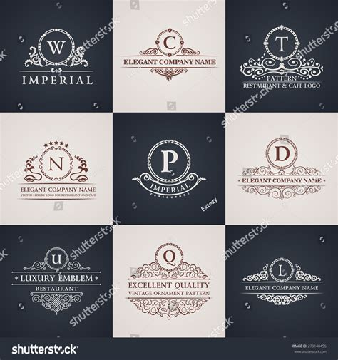 christmas flyer template graphicex luxury logo set calligraphic pattern elegant stock vector