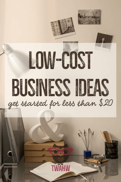 When you consider work at home business ideas and dedicate your time and effort to making a business plan, you can absolutely become successful! Low-Cost Business Ideas You Can Start for $20 or Less ...