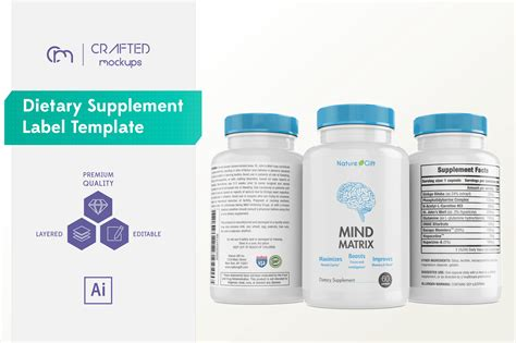 dietary supplement label template creative templates