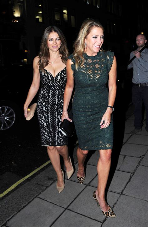 Elizabeth Hurley Night Out Style - London, October 2015 ...