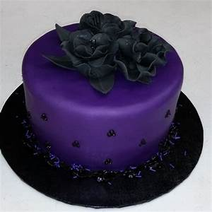 Purple And Black Cake - CakeCentral com