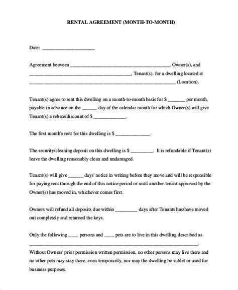 sample basic rental agreement templates