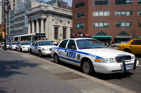 Police Cars In New York City Editorial Stock Image