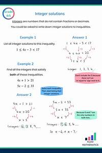 Inequalities Revision Guide