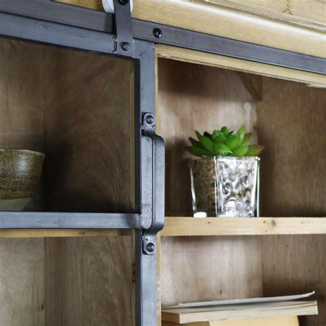 wooden industrial style wall cabinet windsor browne