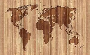 Carte Du Monde En Bois : carte du monde bois poster mural papier peint acheter le sur ~ Teatrodelosmanantiales.com Idées de Décoration