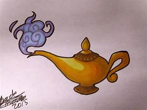 Disney Aladdin Lamp Drawing | www.imgkid.com - The Image ...