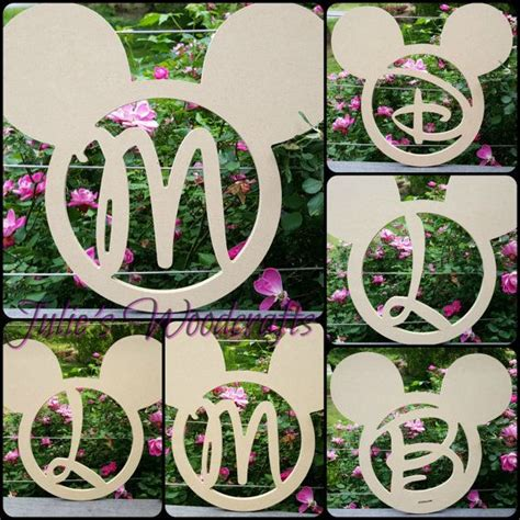 adorable mickey mouse head  monogrammed   letter   choice    tr