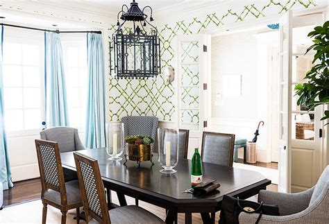 Bamboo Trellis Wallpaper   Contemporary   dining room