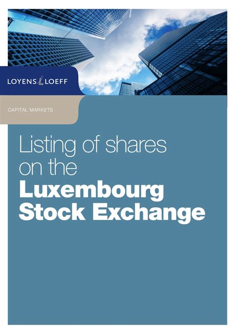 listing  shares   luxembourg stock exchange