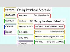 How to Create a Preschool Schedule That Works