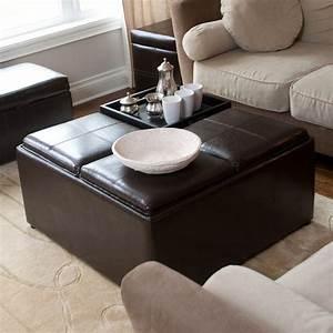 8 coffee table ottoman designs a creative mom With coffee table ottoman combination