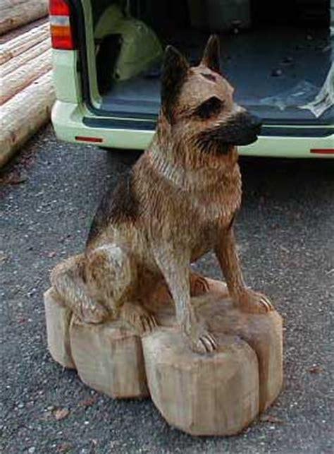 schaeferhund german shepherd hund dog kettensaegen