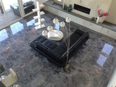 Good Metallic Epoxy Basement Floor : Ideas Paint Metallic