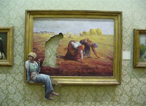 humor banksy painting picture frames women galleries