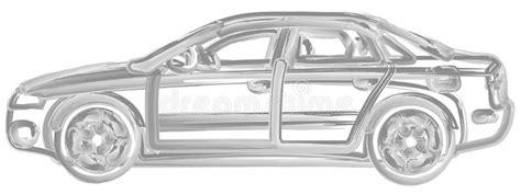 Pinsel Gemaltes Auto Vektor Abbildung Illustration Von
