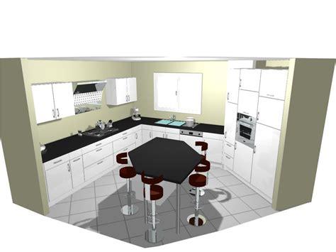 cuisine avec ot central cuisine avec ilot central pour manger deco maison moderne