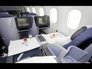 United Boeing 787 Dreamliner First Class cabin - YouTube