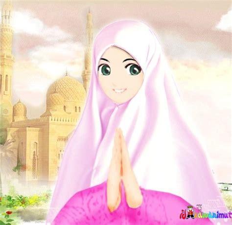 Kartun Hijab Cantik Terbaru Pictures Gambar Wanita Muslimah