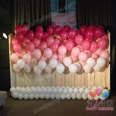 pink and white balloon decorations floating ombr 233 pink balloon walls pink and white balloon