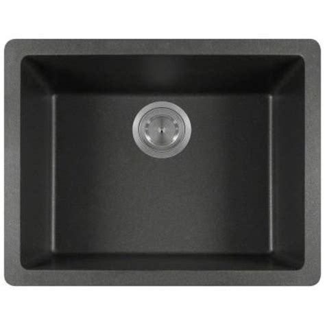 black kitchen sink home depot polaris sinks undermount granite 22 in single bowl