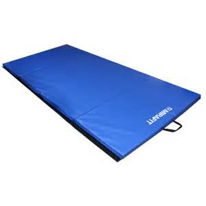 folding gymnastics exercise floor mat 8ft blue mirafit