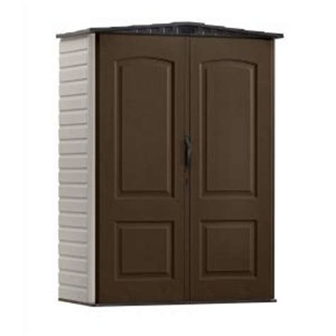Rubbermaid Vertical Storage Shed Home Depot by Rubbermaid 4 Ft X 2 Ft Small Vertical Plastic Shed