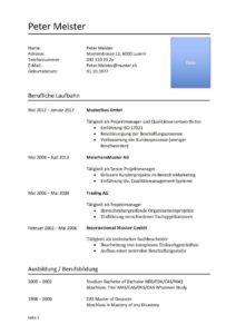 Lebenslauf Darstellung by Tabellarischer Lebenslauf Vorlage Muster Und Vorlagen