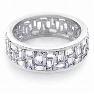 26 beautiful baguette diamond wedding ring navokalcom for Mens wedding rings baguette diamonds