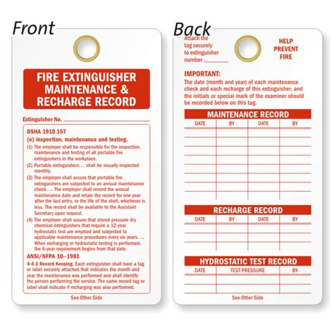 Published by badshah on august 6, 2020. Fire Extinguisher Recharge And Inspection Vinyl Tags, SKU - TG-0223