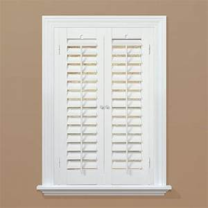 Interior shutter home decor for Home depot window shutters interior