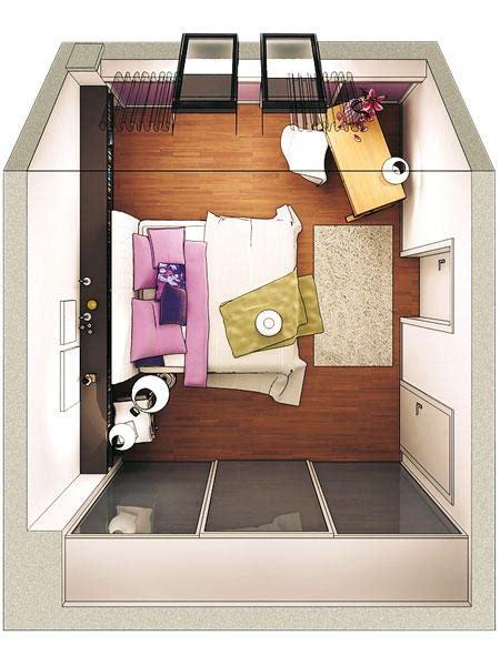 schlafzimmer schraege gestalten