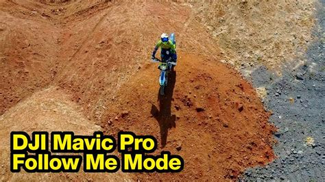 dji mavic pro follow  mode enduro test ride youtube