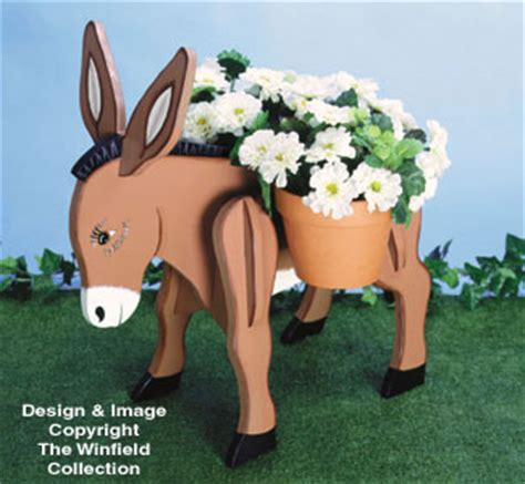 planter woodworking plans donkey planter wood project plan