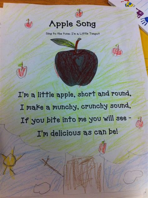 apple songs preschool 42 best images about kindergarten poems on 239