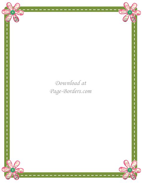 Pink Flower Page Border