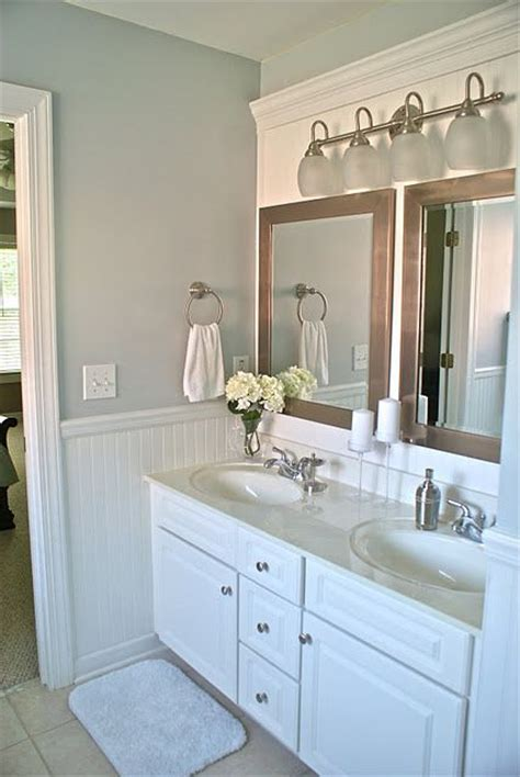 Bathroom Mirror Makeover by Amaing Bathroom Makeover The Idea To Cover A Large