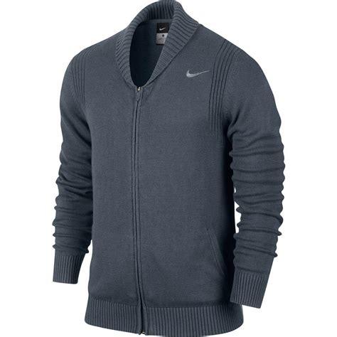 nike mens full zip sweater dark blue tennisnutscom