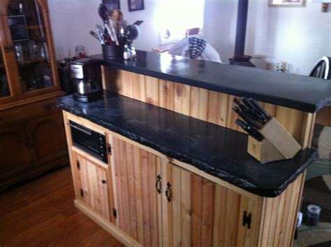 split level kitchen island bi level concrete kitchen island concrete countertops