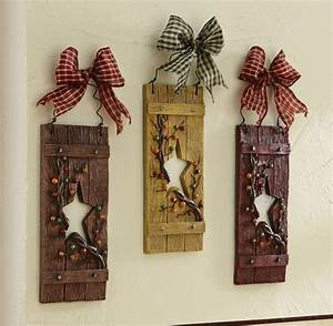 Country star hanging wall decor set