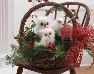 raz white owls trendy tree blog holiday decor
