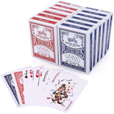 There are three main playing card sizes that you're going to see: Playing Cards, Poker Size Standard Index, 12 Decks of Cards - American Store: Gaming Accessories
