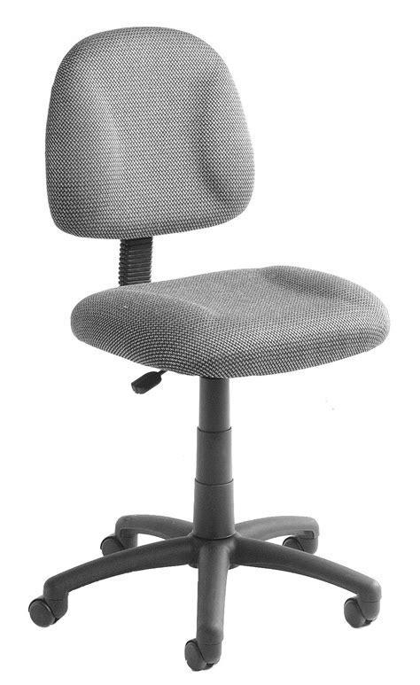 Boss Office Products GREY FABRIC DELUXE POSTURE CHAIR
