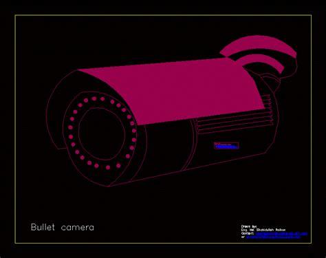 bullet camera dwg block  autocad designs cad