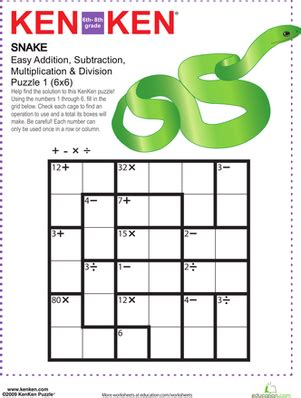 6 best images of middle school math puzzles printable