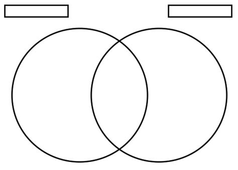 Ven Diagram For by Venn Diagram Template Venn Diagram Printable Venn