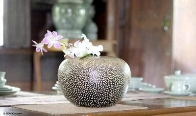 The Empty Vase Rock by Unique Lacquerware Mango Wood Vase Rock Eggs Novica