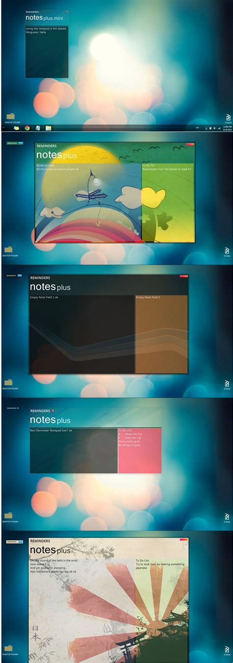 Notes Plus For Rainmeter By Charliedogfhhfd On Deviantart