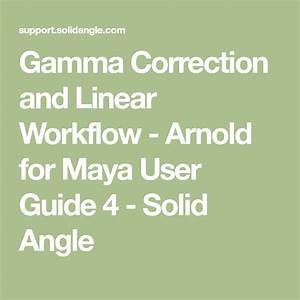 Gamma Correction And Linear Workflow